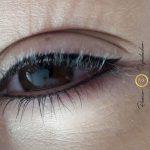 Auge einer Kundin, Permanent Make Up Lidstrich Erfahrung in Wien