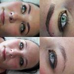 Dichte Augenbrauen mit Microblading und Shading