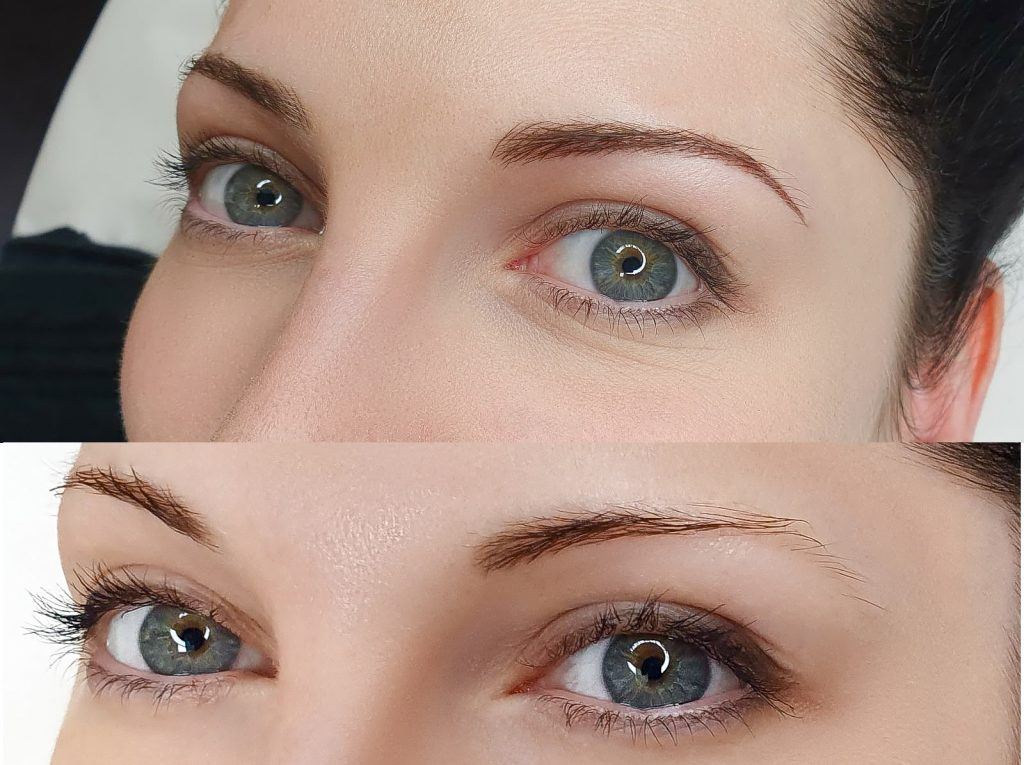 Microblading Shading Augenbrauen